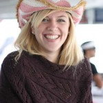 Beate and her Pink Cowgirl Hat